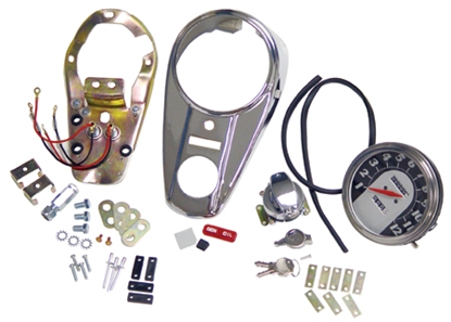 Picture of V-FACTOR INSTRUMENT PANEL COVER & BASE KITS FOR FAT BOB GAS TANKS