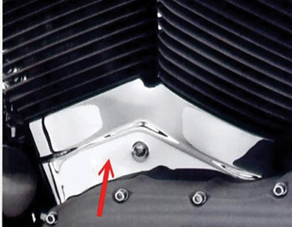 Picture of V-FACTOR CYLINDER BASE/CRANKCASE COVER FOR BIG  TWIN & SPORTSTER