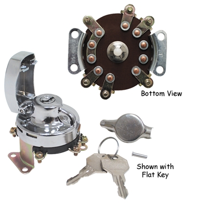 Picture of V-FACTOR IGNITION SWITCHES FOR FAT BOB DASHES