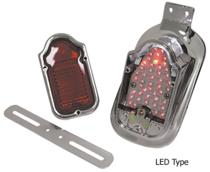 Picture of V-FACTOR 12 VOLT TOMBSTONE TAILLIGHT WITH MOUNT FOR FL STYLE REAR FENDER