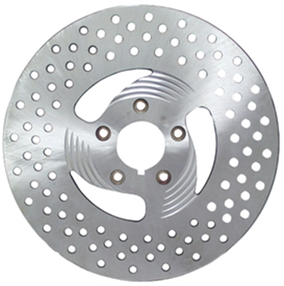 Picture of 3 SPOKE DRILLED BRAKE DISCS FOR BIG TWIN & SPORTSTER