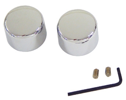 Picture of V-FACTOR AXLE NUT COVER KIT FOR BIG TWIN & SPORTSTER