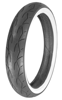 Picture of VEE RUBBER TWIN VRM-302 SERIES WHITE SIDEWALL TIRES