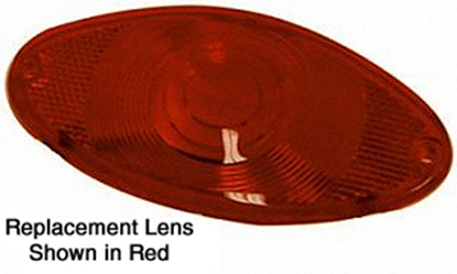 Picture of REPLACMENT LENS FOR V-FACTOR 12 VOLT CATEYE TAILLIGHT ASSEMBLY FOR  CUSTOM USE