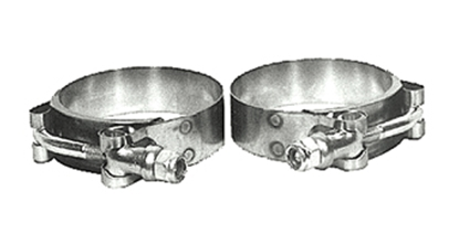 Picture of AIRCRAFT STYLE EXHAUST PORT CLAMPS FOR PANHEAD  & IRONHEAD SPORTSTER