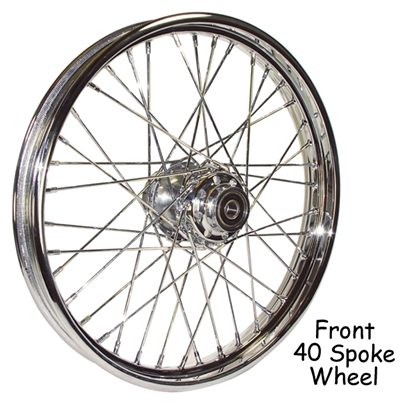 Picture of COMPLETE 40 SPOKE WHEELS FOR MOST MODELS