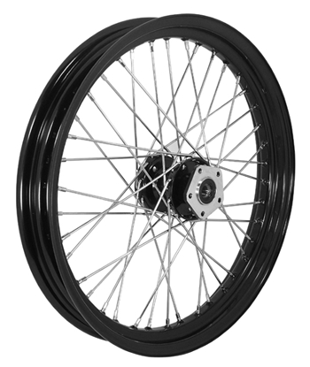 """Picture of COMPLETE 23"""" FRONT 40 SPOKE WHEELS FOR BIG TWIN"""