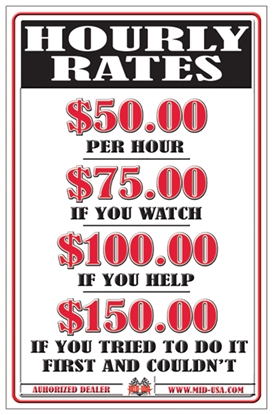 Picture of MID-USA HOURLY RATE SIGN