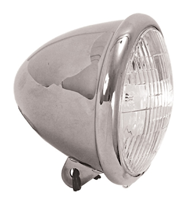 """Picture of 5 3/4"""" BULLET STYLE HEADLIGHT ASSEMBLY FOR CUSTOM USE"""