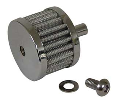 Picture of CHROME PLATED CRANKCASE BREATHER FILTER KIT FOR ALL MODELS