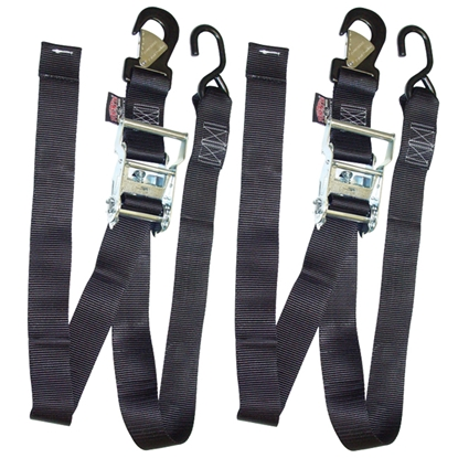 "Picture of 2"" WIDE RATCHET TIE DOWN PAIRS FOR TRANSPORTING MOTORCYCLES"