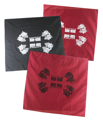Picture of BLACK BANDANNA WITH WHITE MID-USA LOGO