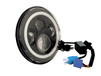 """Picture of 7"""" LED HEADLIGHTS WITH HALO FOR CUSTOM USE"""