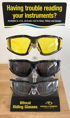 Picture of RIDING GLASSES WITH BIFOCAL LENSES
