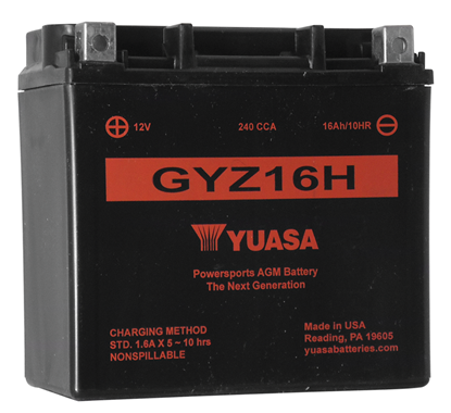 Picture of MAINTENANCE FREE BATTERY FOR 12 VOLT MODELS - GYZ16H - 240 CCA