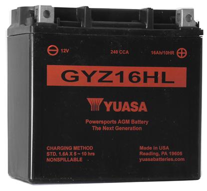 Picture of MAINTENANCE FREE BATTERY FOR 12 VOLT MODELS - GYZ16HL - 240 CCA