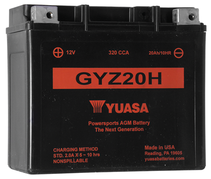 Picture of MAINTENANCE FREE BATTERY FOR 12 VOLT MODELS - GYZ20H - 320 CCA