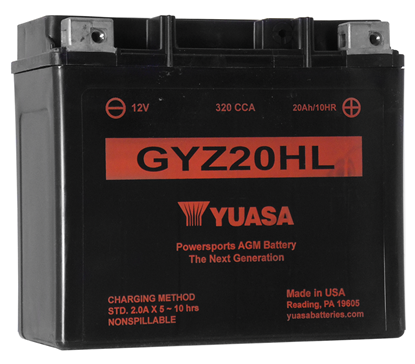 Picture of MAINTENANCE FREE BATTERY FOR 12 VOLT MODELS - GYZ20HL - 320 CCA