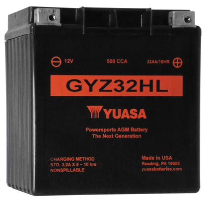Picture of MAINTENANCE FREE BATTERY FOR 12 VOLT MODELS - GYZ32HL - 500 CCA
